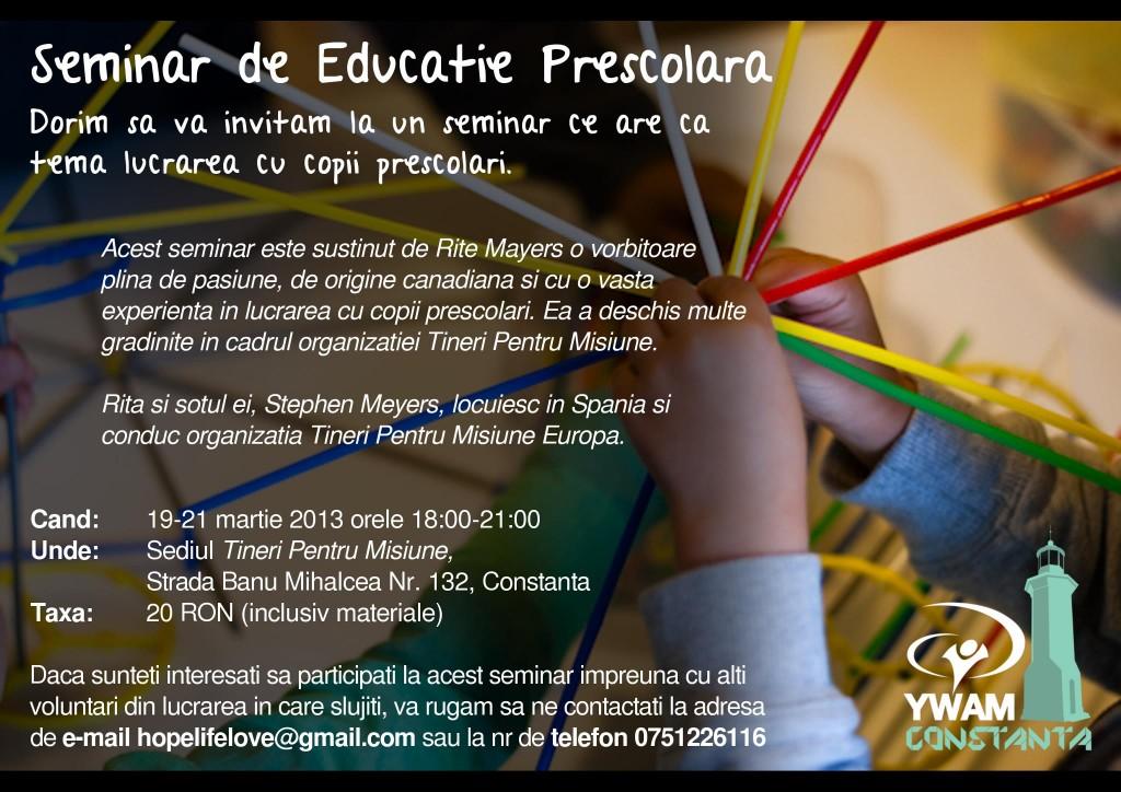 Seminar de Educatie prescolara