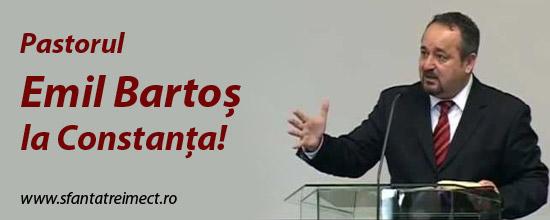 Duminica, 27 iulie, pastorul Emil Bartos la Constanta!