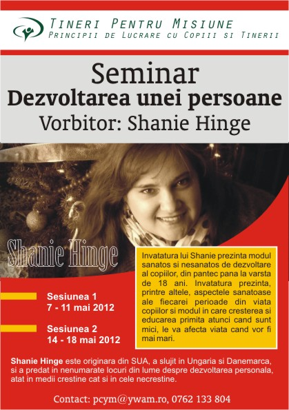 "Seminar ""Dezvoltarea unei persoane"" la Constanta"